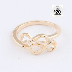Jewelry - Double Crazy 8 Ring Gold